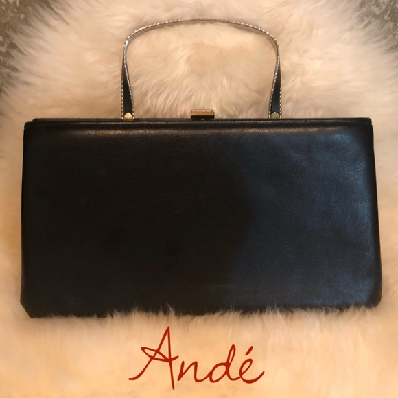 Vintage Handbags - Vintage 🖤 Andé Evening Bag Black Handbag